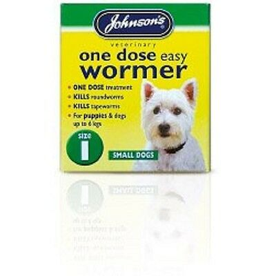 200728 Johnsons Vet One Dose Easy Wormer Size 1 3 x 100mg Tablets B051
