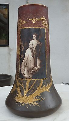 Antique Royal Bonn Germany Handpainted Porcelain Vase Signed Franz Anton Mehlem