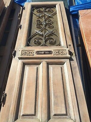 "Single Mediterranean Spanish Detailed Wooden Door 31""x90"""