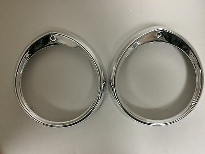 Headlight Ring Set For Peugeot 404 - NEW - (#957)