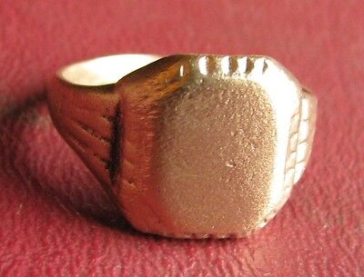 Antique Artifact   18th Century Bronze Finger Ring  SZ 9 1/4 US 19.25mm 14380 DR