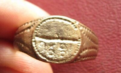Antique Artifact > Bronze Finger Ring dated 1891 SZ: 10 3/4 US 20 mm 14377 DR