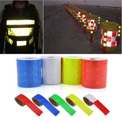 """1PC 2""""X10' 3M Multicolor Reflective Safety Warning Conspicuity Tape Film Sticker"""