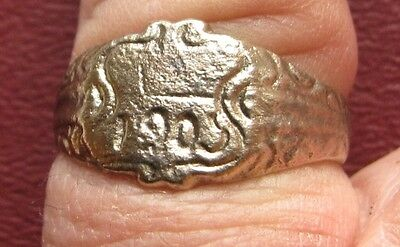 Antique Artifact > Bronze Finger Ring dated 1903 SZ: 10 1/4 US 20 mm 14376 DR