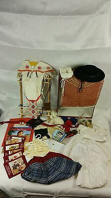 AMERICAN GIRL DOLL JOSEFINA LOT OUTFITS LOOM HAT booklet Pancho necklaces brrete