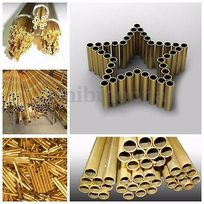 Brass Tube Pipe Tubing Round Outer Diameter 6-20mm Length 100-500mm Model Making