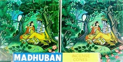 Madhuban Incense 2 x 36 Assorted Cones Packets
