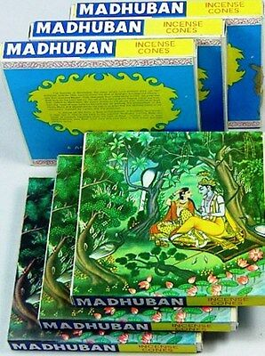 Madhuban Incense 6 x 36 Assorted Cones Packets