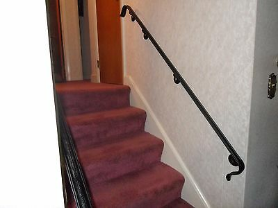 6 7 Steps Hand Rails 84 Wrought Iron Wall Mounted Stair Case Grab Handrailings