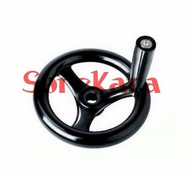 Multiply 3 Spoke Hand Wheel Black with Revolving Handle for Milling Machine