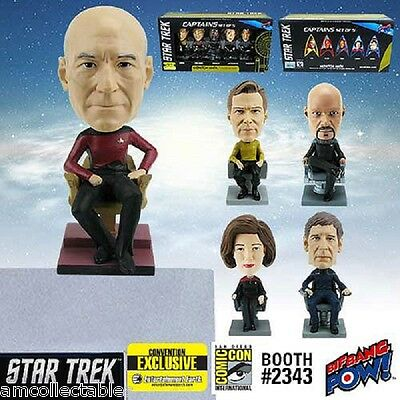 Star Trek Captains Monitor Mate Bobble Heads Set of 5 - Convention Exclusive