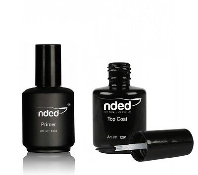 PRIMER EXTRA FUERTE +TOP COAT nded 15ml ACRILICAS TIP GUIA UÑAS CALIDAD NDED