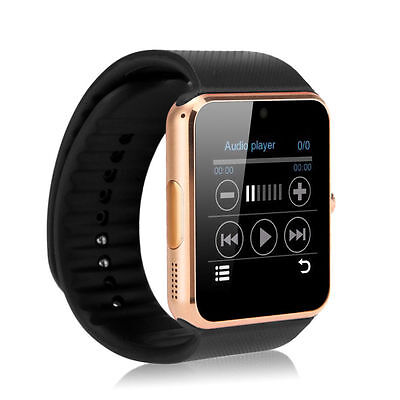 "Gold 1.54"" GT08 Touch Screen Bluetooth Smart Watch Phone Mate For Android IOS"