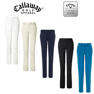 Callaway Women/Ladies Solid Flat Fronted Golf Trousers-CGBS5057-New.