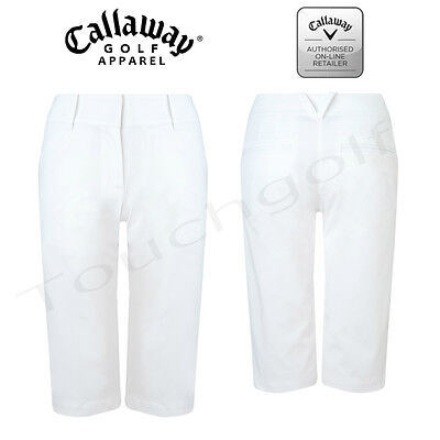 Callaway Women/Ladies White Golf Shorts - CGBS6055 - New.