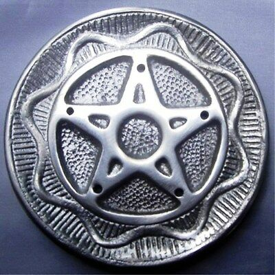 Pentagram Silver Round Incense Holder