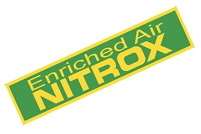 Large Nitrox Only Tank Band Warning Tank Sticker for Scuba Tanks 23""