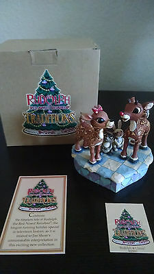 Jim Shore Rudolph The Red Nosed Reindeer Traditions 4009800 Rudolph & Clarice