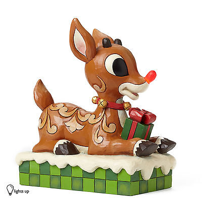 Jim Shore Rudolph The Red Nosed Reindeer with Light Up Nose Christmas 4048591