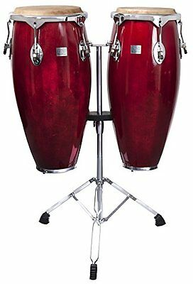 Performance Percussion Conga Set with Stands - Natural Finish