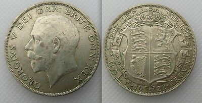 Collectable 1922 King George V (0.500 Silver) Half-Crown Coin