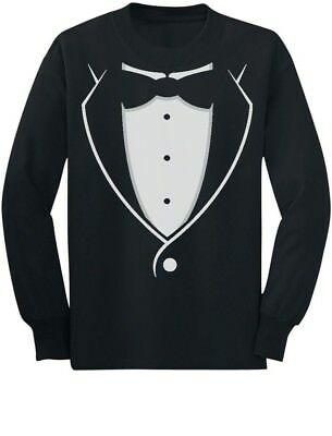 Tuxedo With Black Bow Tie Funny Toddler/Kids Long sleeve T-Shirt Gift Idea