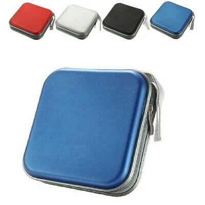 BLUE CD DVD 40 Disc Case Wallet Holder Cover Water Resistant Wallet Plastic Bag