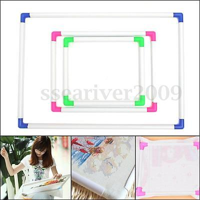 Plastic Handhold Square Shape Embroidery Frame Cross Stitch Hoop Craft DIY Tool