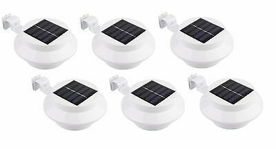 6 Pack Solar Powered Outdoor Garden Light Gutter Fence LED Wall With Bracket New