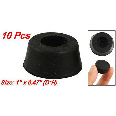10Pcs 26mm x 12mm Furniture Chair Cone Rubber Feet Pad Cover Bumper Protector TK