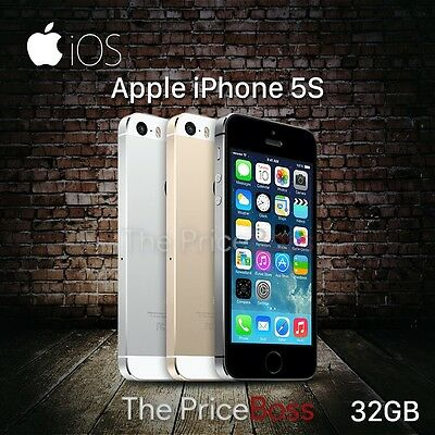 "Apple iPhone 5S 32GB GSM ""Factory Unlocked"" Smartphone Gold Gray Silver"