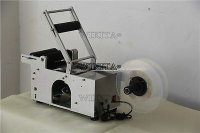 Semi-Automatic Round Bottle Labeler Labeling Machine New Bg D
