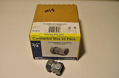 """25pcs 3/4"""" EMT Compression and Concrete tight COUPLINGS FREE EXPEDITED SHIPPING"""