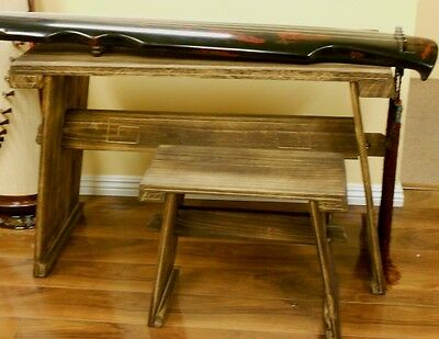 Paulownia Guqin Table & Stool Set
