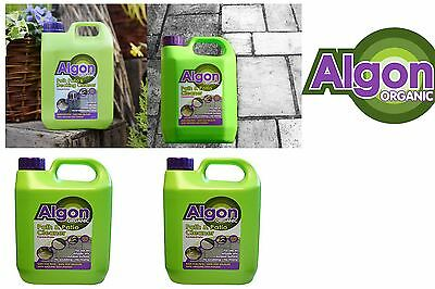 5 Liter, Algon Organic Algae Remover Path Patio & Decking Outdoor Cleaner