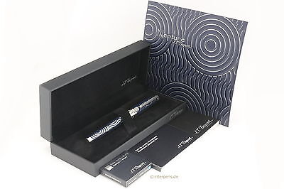 S.T. DUPONT Olympio Limited Edition Neptune Fountain 18K M nib Box Papers