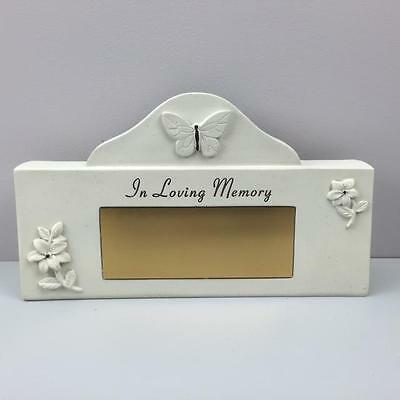 New PERSONALISED GRAVESIDE GRAVE TRIBUTE MEMORIAL PLAQUE - IN LOVING MEMORY