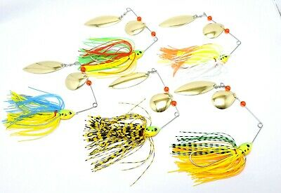 5 PACK FISHING ADVANTAGE SPINNER BAITS 17g SPINNERBAIT  LURE DOUBLE BLADE