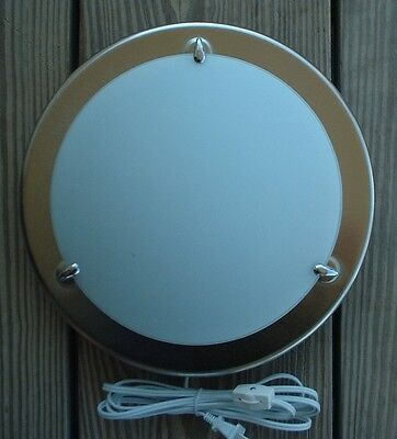12 Inch Contemporary Wall Lamp / Sconce Glass And Steel