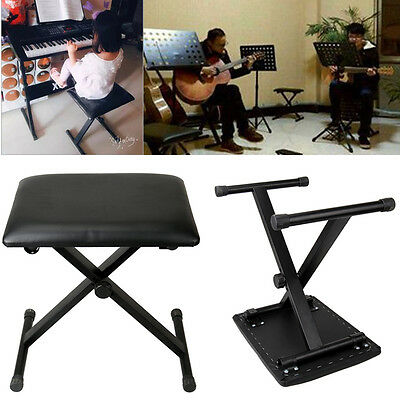 High Quality X Frame Keyboard Bench Piano Stool Adjustable Height 39.5-49.0cm