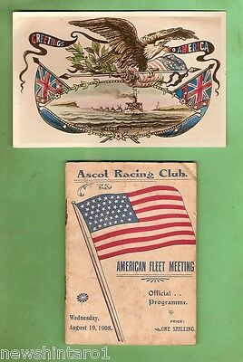#s4.  1908 Sydney Ascot Horse Racing Program For Visit Usa Great White Fleet