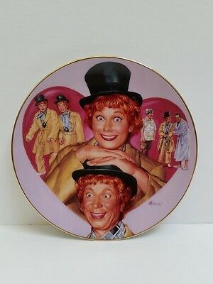 """I Love Lucy Hamilton Collection Plate """"Lucy & Harpa Marx """" by Morgan 0309A"""
