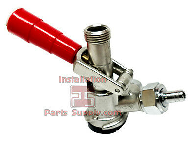"""American US Sankey """"D"""" Style System Stainless Steel Beer Keg Coupler Red Handle"""
