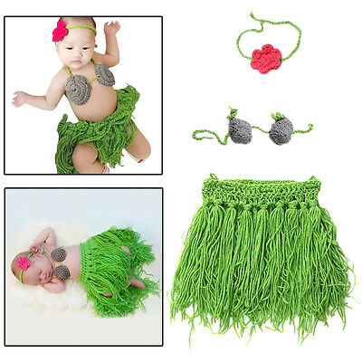 HOT Newborn Baby Girls Crochet Knit Costume Photo Photography Prop Outfits