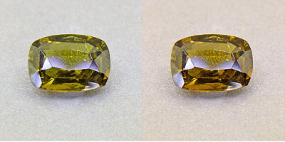 Untreated Ceylon Olive Green Alexandrite  1.57Ct. Certified (00420/FK8-3160315)