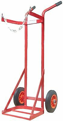 Solid Tyre Single Propane Cylinder Gas Trolley Full Size