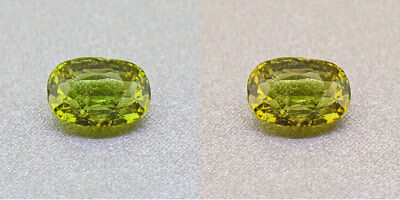 Untreated Ceylon Olive Green Alexandrite  1.04Ct. Certified (00424/FK8-3120315)