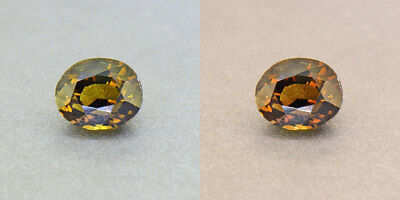 Untreated Ceylon Khaki Green Alexandrite  1.20Ct. Certified (00425/FK8-3110315)