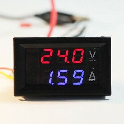 1 X DC 100V 10A Voltmeter Ammeter Dual Color Display LED Amp Volt Meter Gauge US