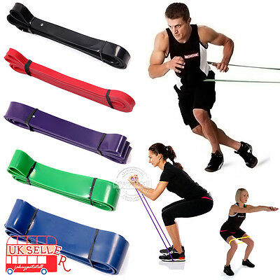 UK 5 Level Loop Resistance Bands Fitness Band for Exercise Gym Strength Training